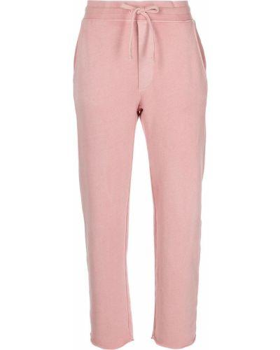 Хлопковые розовые прямые брюки Amo