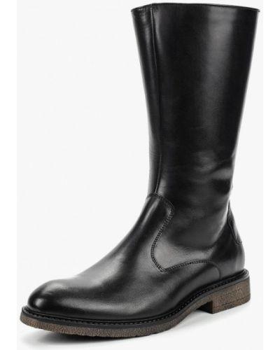 Кожаные ботинки осенние черные Salamander