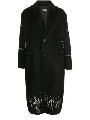 Черное пальто миди Haculla