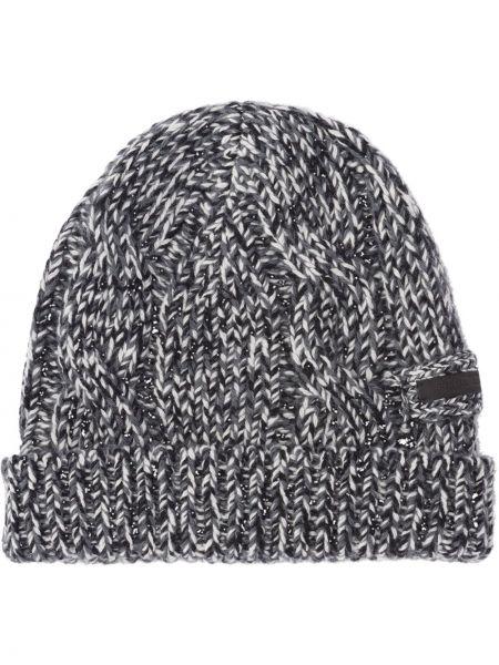 Czarny kapelusz wełniany Prada