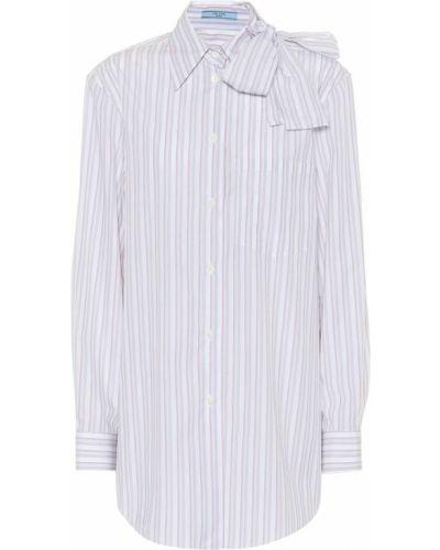 Рубашка в полоску на кнопках Prada