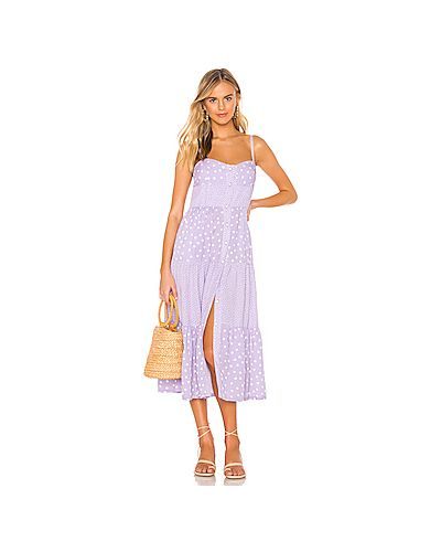 Платье миди в полоску на пуговицах Solid & Striped