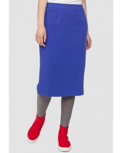 Синяя юбка карандаш с рукавом 3/4 Dolcedonna