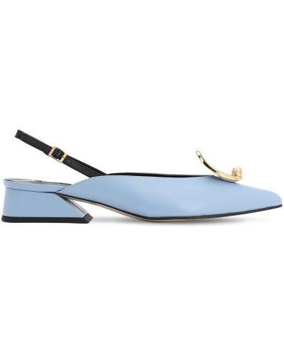 Туфли на каблуке кожаные зеленый Yuul Yie