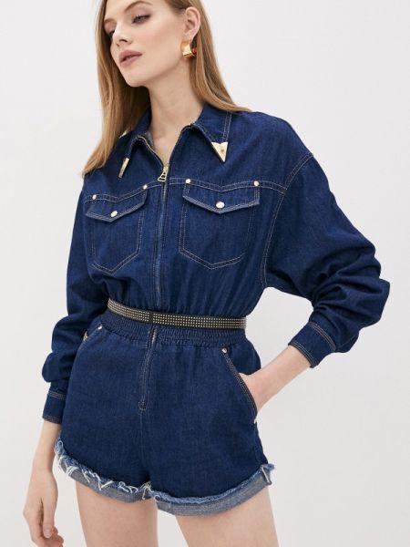 Джинсовый комбинезон синий Versace Jeans Couture