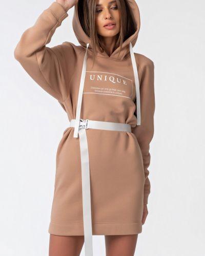 Прямое платье с рукавами с капюшоном с надписью с рукавом реглан Fly