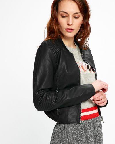 Кожаная куртка облегченная с карманами Sh