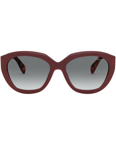 Czerwone okulary Prada