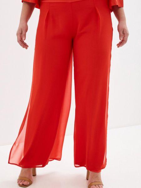 Красные брюки с воротником Keyra