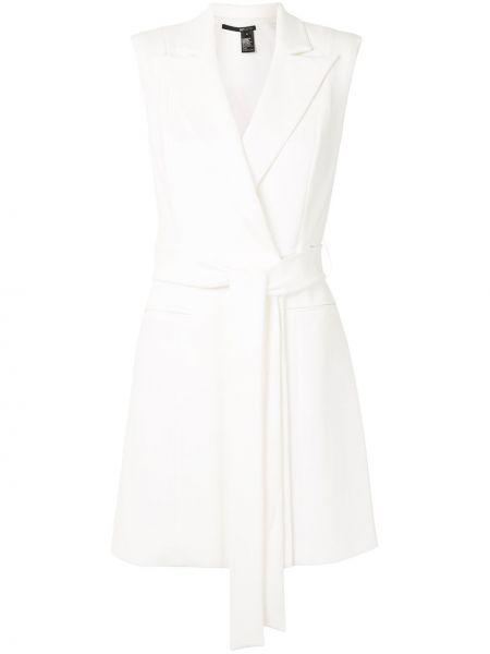 Прямое белое платье мини без рукавов Jay Godfrey