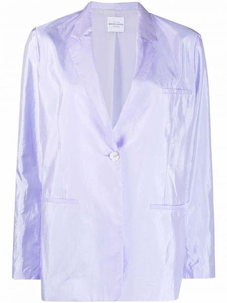 Фиолетовый однобортный удлиненный пиджак на пуговицах Roseanna