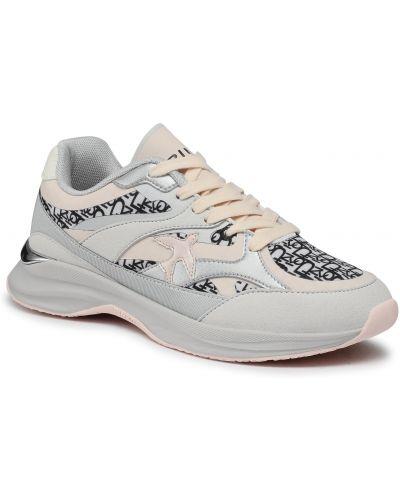 Szare sneakersy Pinko