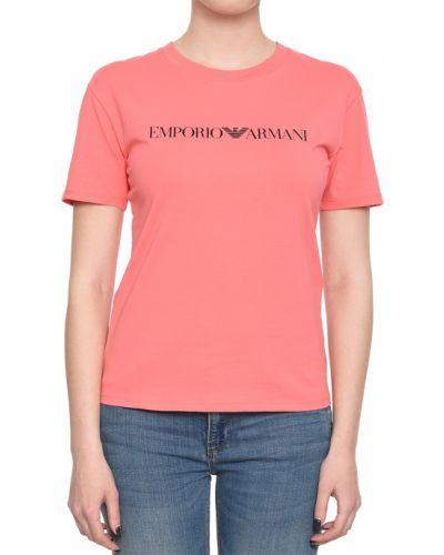 Розовая футболка Emporio Armani
