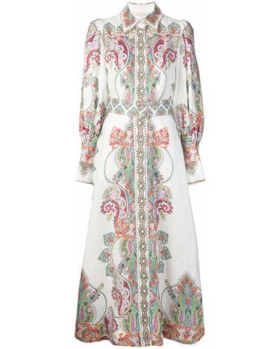 Платье макси на пуговицах классическое Zimmermann