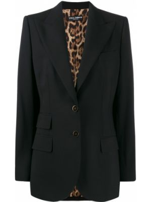 Пиджак черный шерстяной Dolce & Gabbana