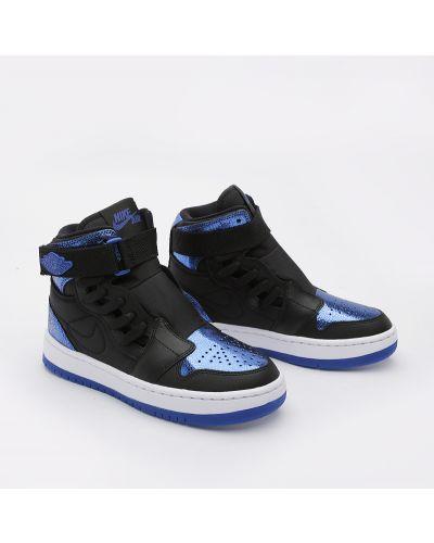 Кроссовки черные синий Jordan