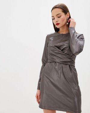 Платье серое осеннее Lime