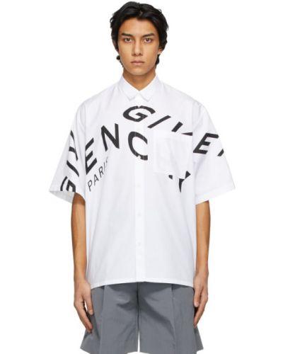 Czarna koszula krótki rękaw bawełniana Givenchy