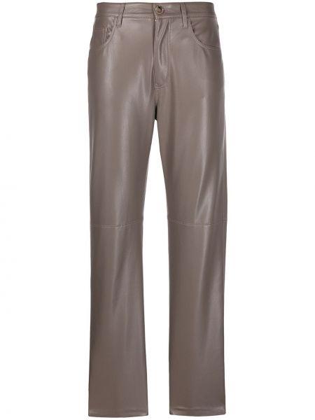 Bawełna bawełna spodni klasyczne spodnie z kieszeniami Nanushka