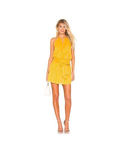 Платье мини желтый Parker