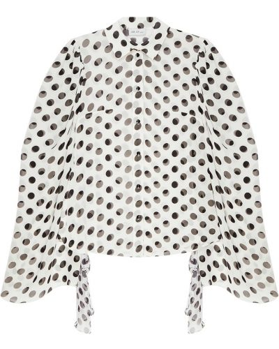 Шелковая белая блузка с воротником ли-лу