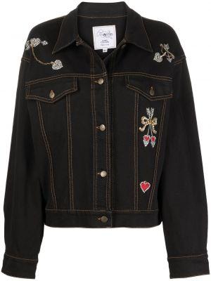 Черная джинсовая куртка с воротником винтажная A.n.g.e.l.o. Vintage Cult