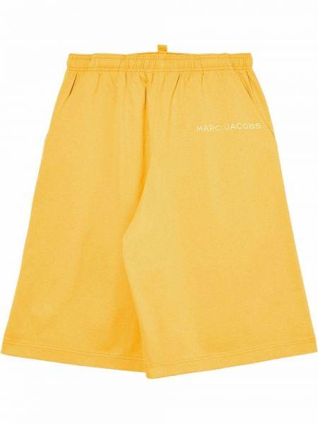 Желтые шорты свободного кроя Marc Jacobs