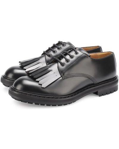 Классические туфли кожаные на широкую ногу Alexander Mcqueen