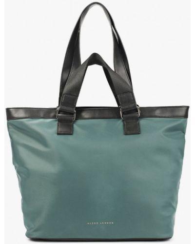 Кожаная сумка - зеленая Keddo