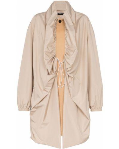 Однобортное длинное пальто с капюшоном на пуговицах Y/project