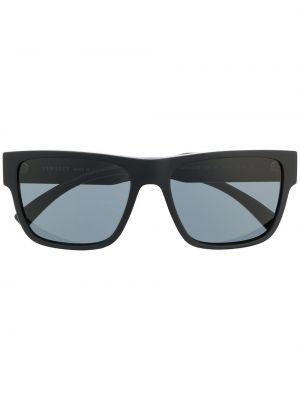 Золотистые черные солнцезащитные очки металлические Versace Eyewear