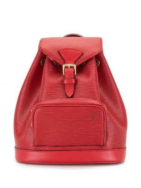 Красный кожаный рюкзак на шнурках Louis Vuitton