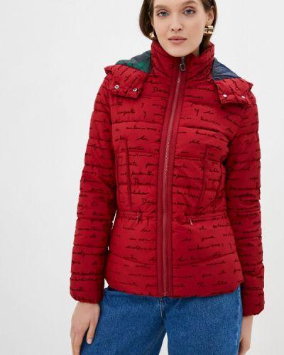 Утепленная красная куртка Desigual