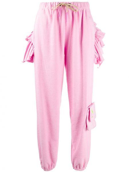 Спортивные брюки розовый с карманами Natasha Zinko