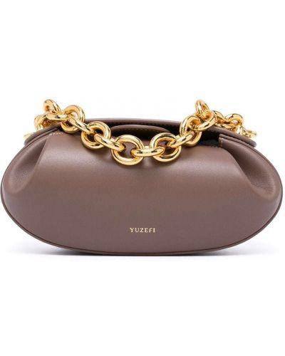 Кожаная сумка - коричневая Yuzefi