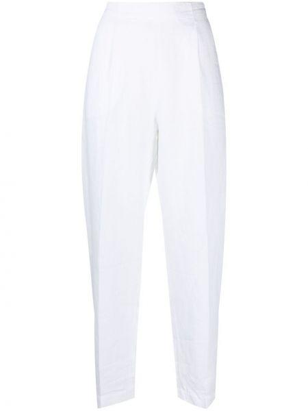 Прямые с завышенной талией белые укороченные брюки Antonelli