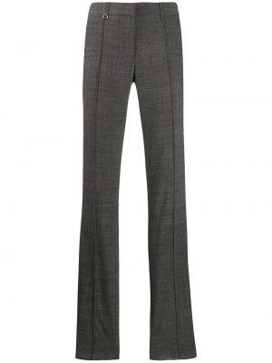 Spodnie wełniane z paskiem rozkloszowane Barbara Bui