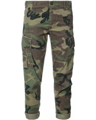 Укороченные брюки камуфляжная зеленый Re/done
