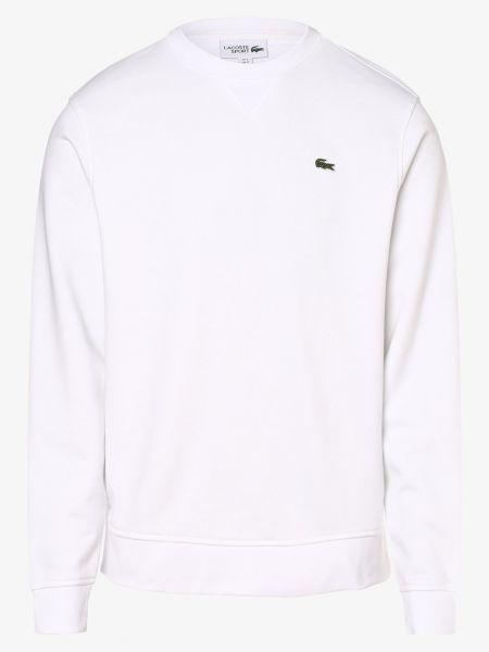 Biały bluzka z paskami Lacoste