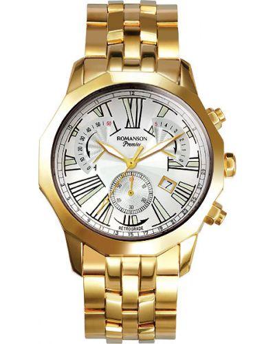 Часы водонепроницаемые с подсветкой винтажные Romanson