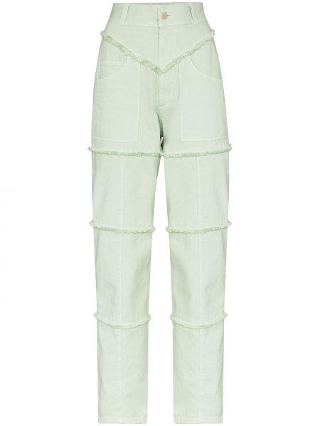 Niebieskie jeansy z wysokim stanem bawełniane Ambush
