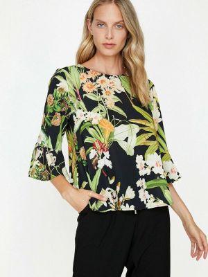 Черная блузка с длинными рукавами Koton
