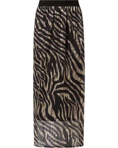 Czarna spódnica rozkloszowana z szyfonu Kaffe