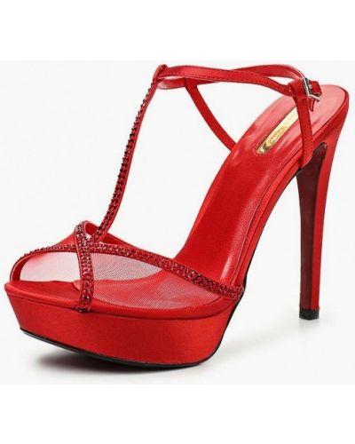 Красные босоножки на каблуке Primadonna