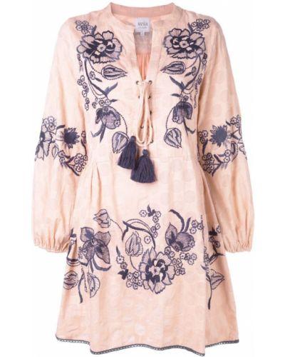 Блузка с длинным рукавом розовая с вышивкой Misa Los Angeles