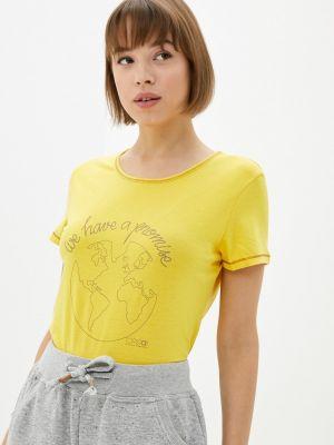 Желтая зимняя футболка Torstai