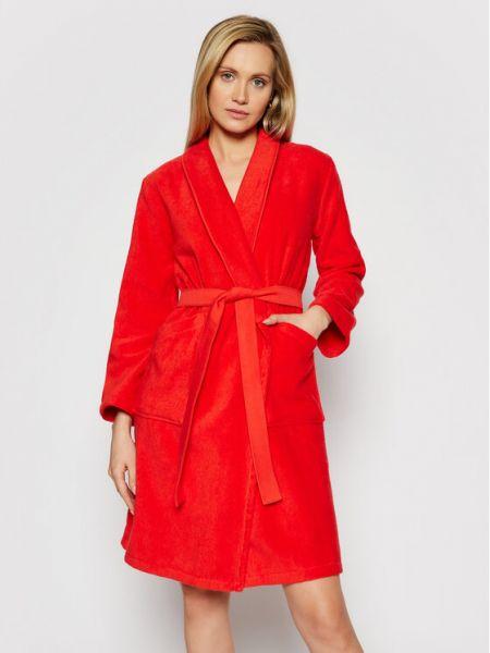 Czerwony szlafrok Kenzo