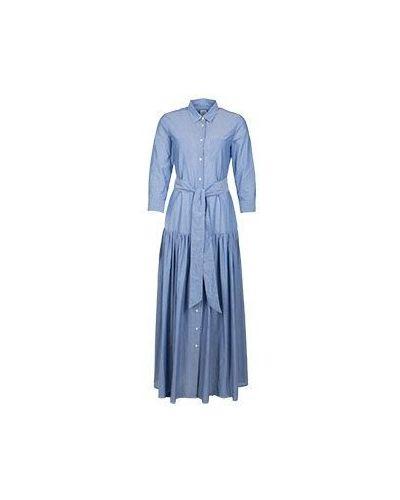 Хлопковое синее платье Sara Roka