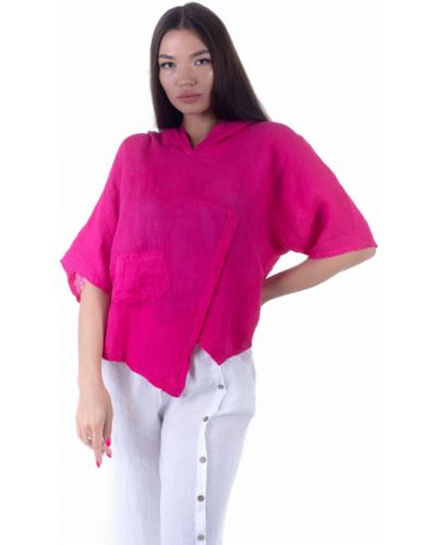 Льняная блузка - малиновая Puro Lino