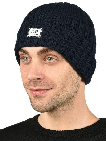 Синяя шерстяная шапка C.p. Company